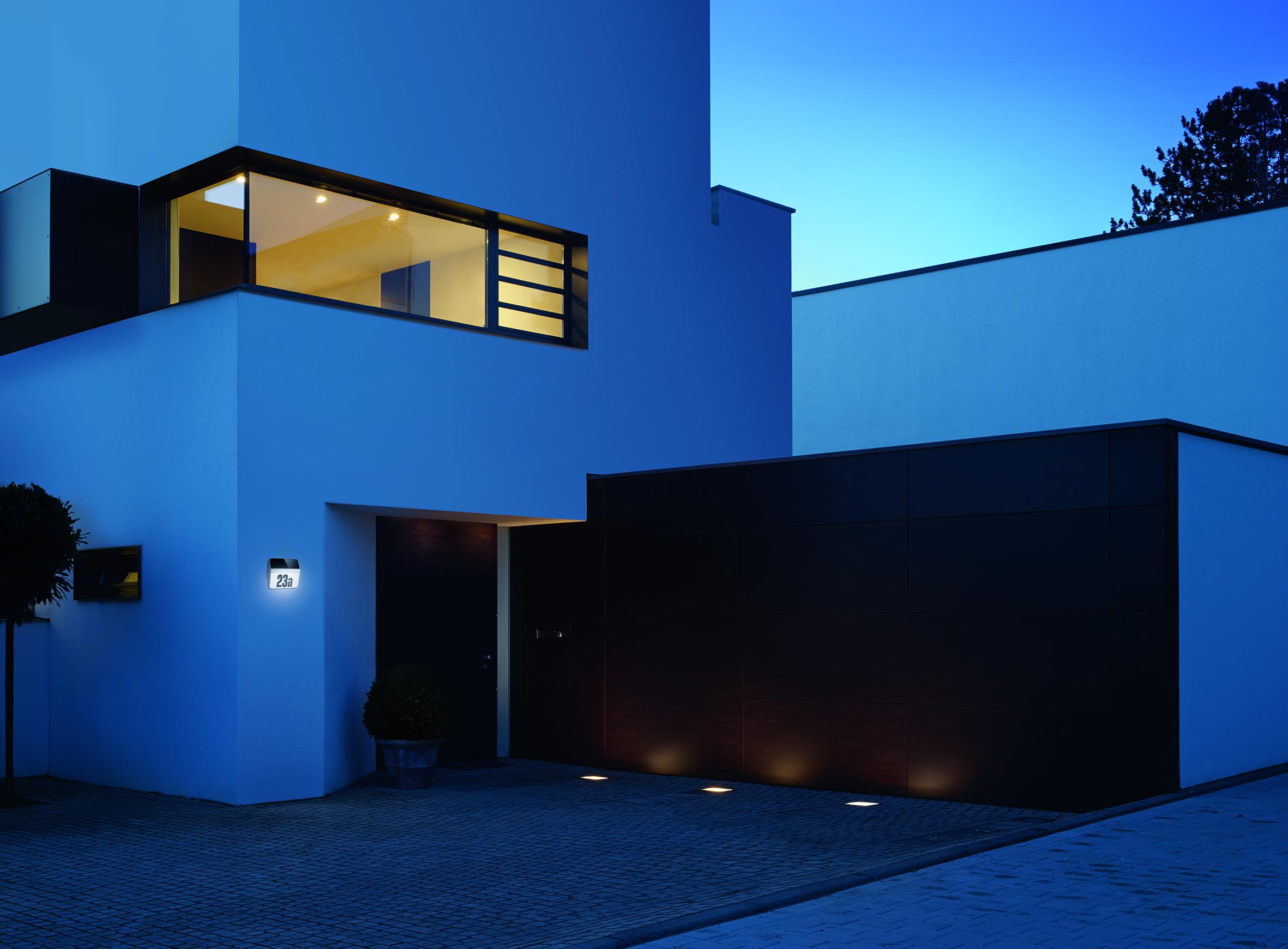 steinel led hausnummern leuchte xsolar lh n edelstahl 7140. Black Bedroom Furniture Sets. Home Design Ideas