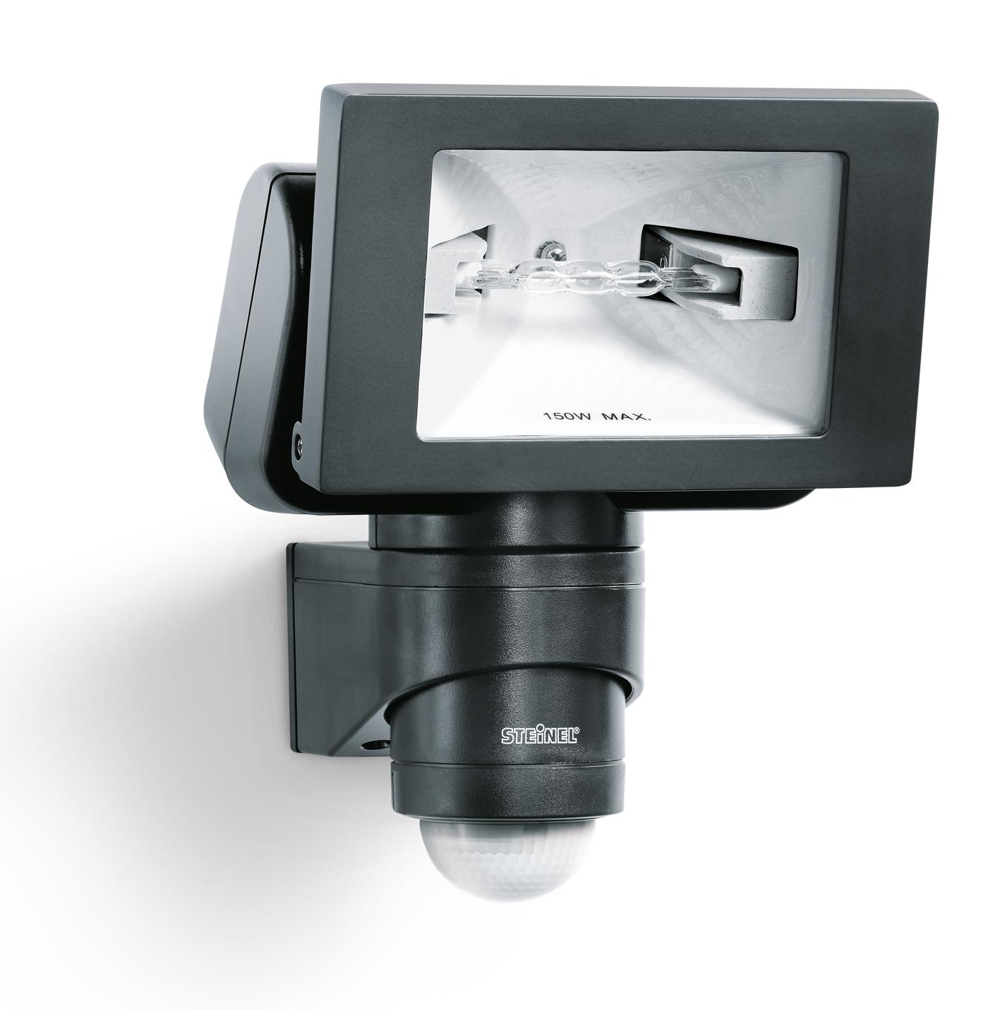 Steinel sensor halogenstrahler hs 150 duo schwarz 633011 for Hausfronten modern