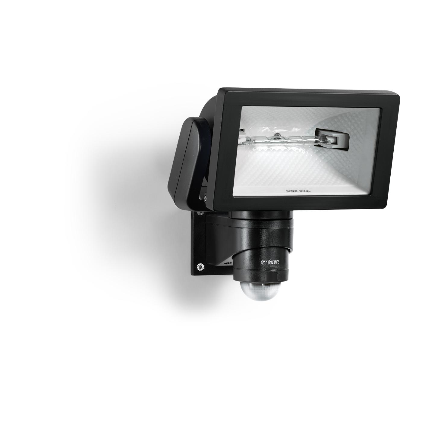 Steinel sensor halogenstrahler hs 300 duo schwarz 633219 for Hausfronten modern