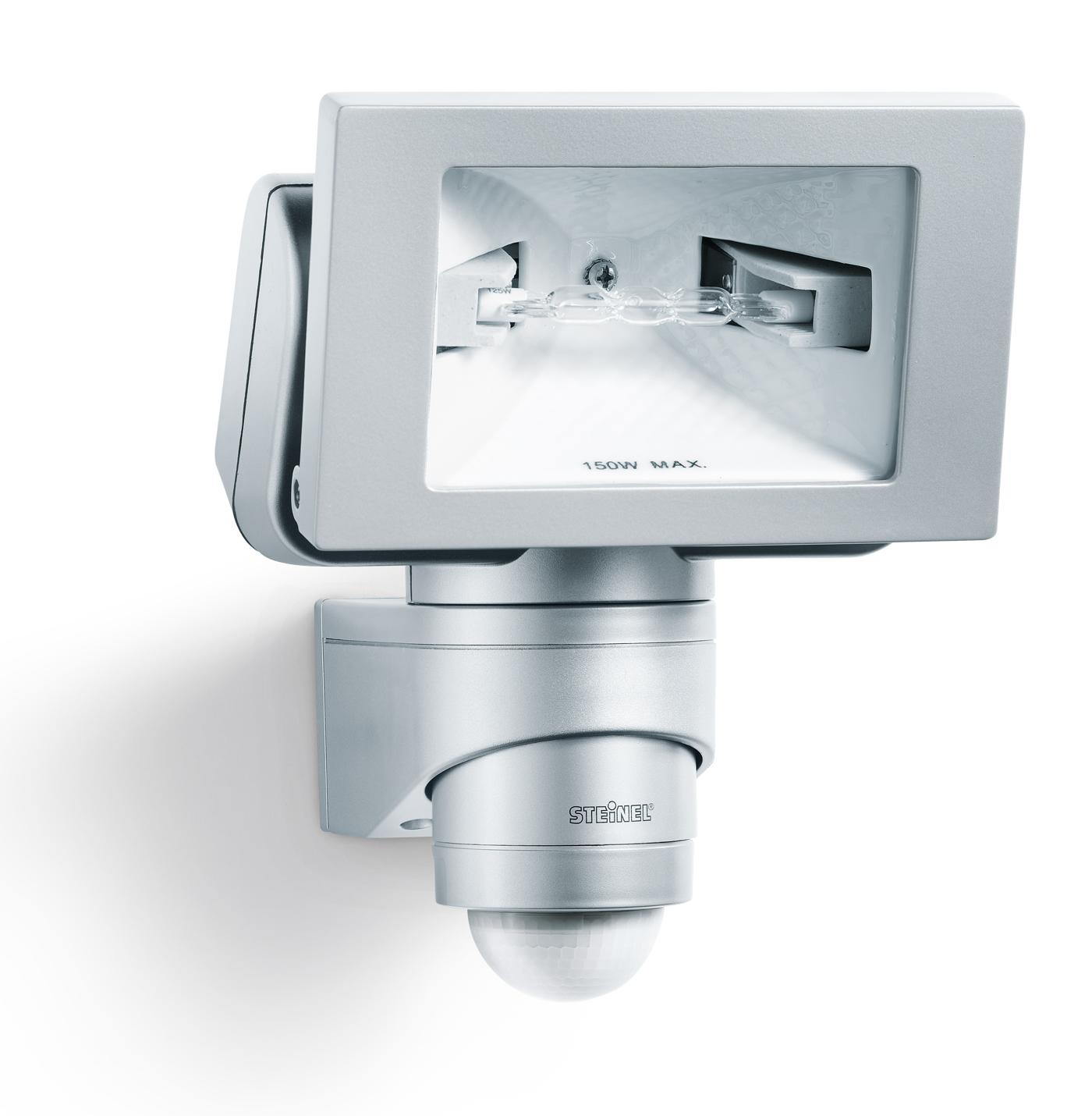 Steinel sensor halogenstrahler hs 150 duo platin look 646318 for Hausfronten modern