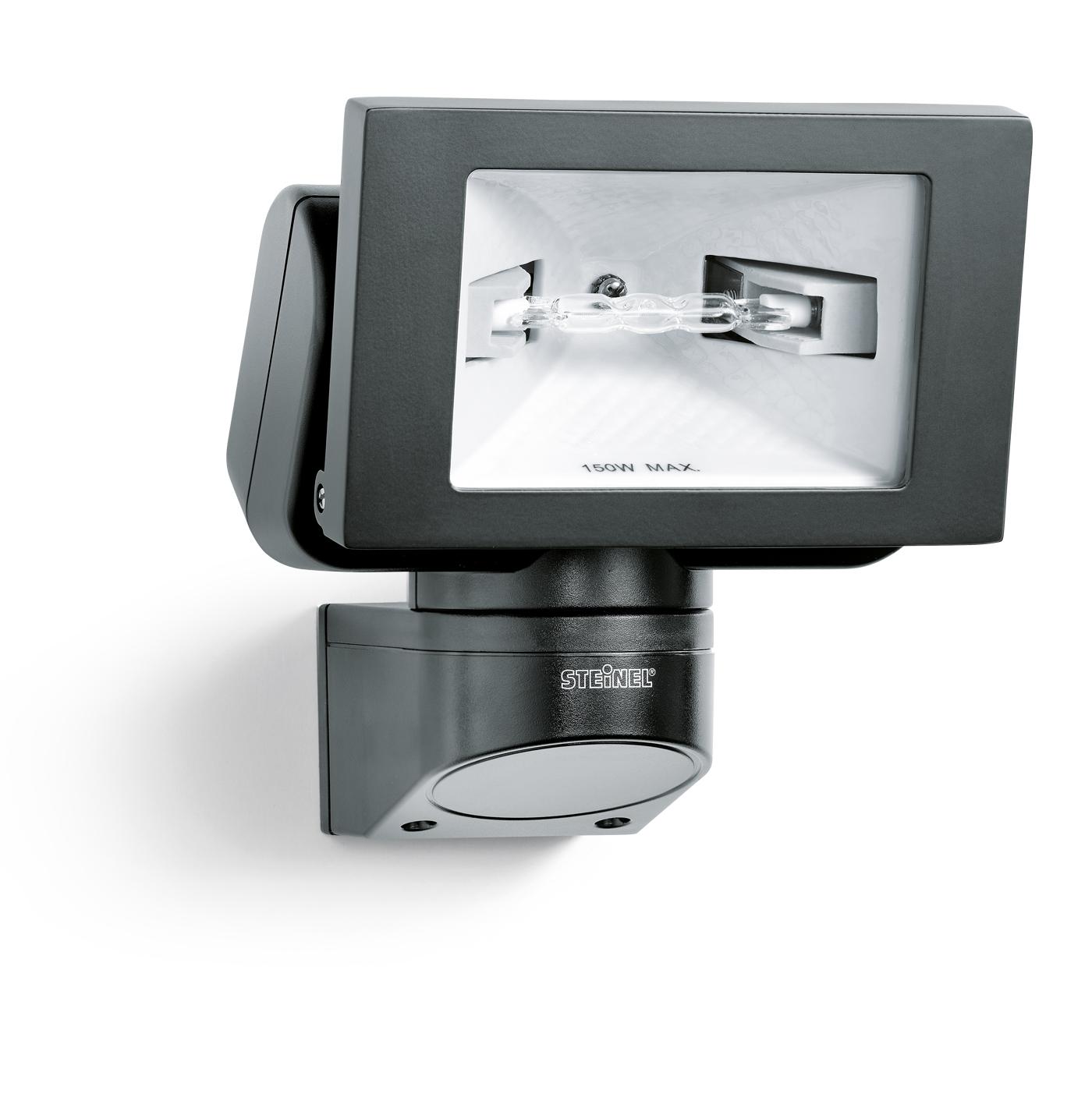Steinel halogenstrahler h 150 ohne sensor schwarz 631314 for Hausfronten modern