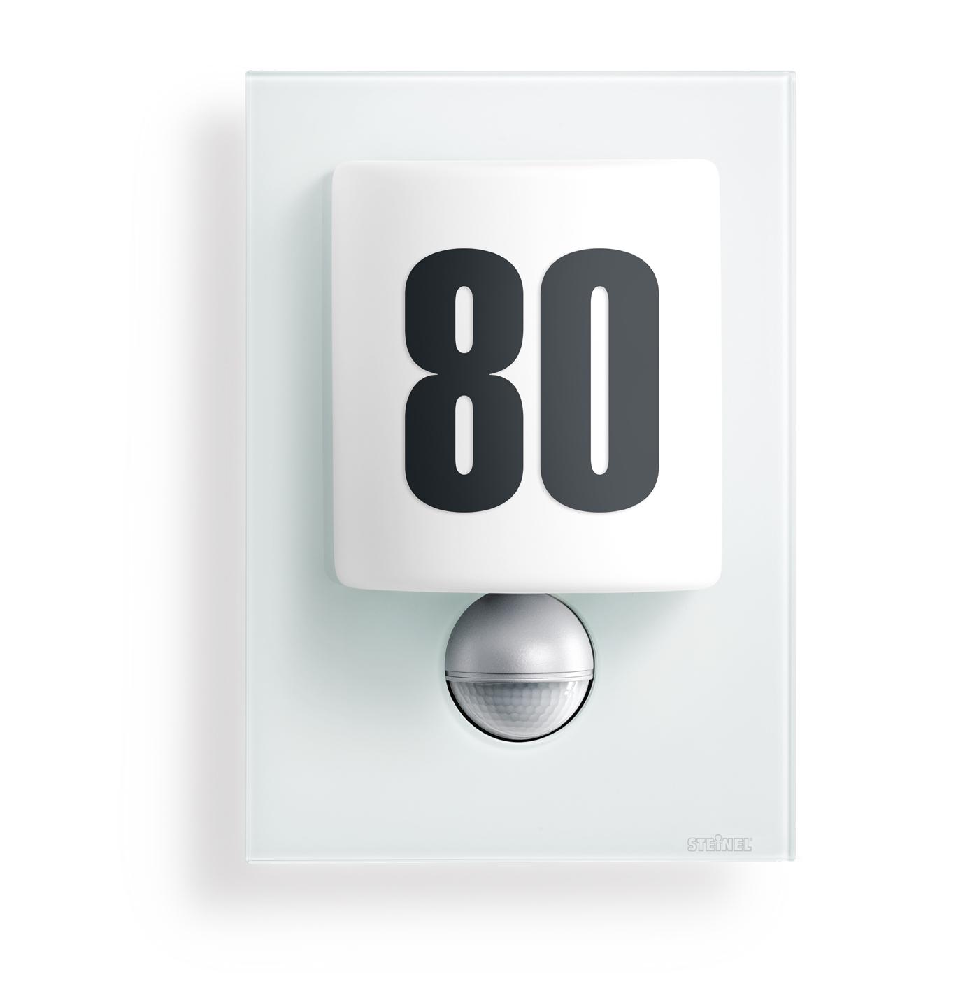 steinel sensorleuchte l 680 led glasblende wei 003821 fh. Black Bedroom Furniture Sets. Home Design Ideas