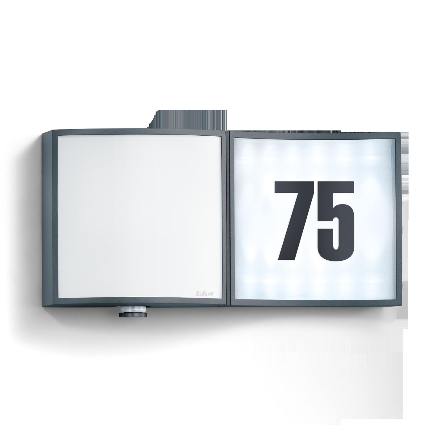 steinel sensor au enleuchte l 675 led alu anthrazit 581817 fh. Black Bedroom Furniture Sets. Home Design Ideas