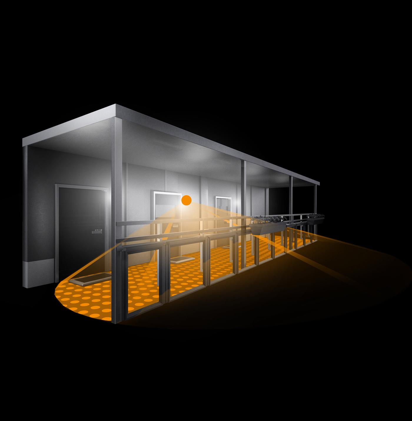 steinel sensor au enleuchte l 690 led glas anthrazit 671617 fh. Black Bedroom Furniture Sets. Home Design Ideas