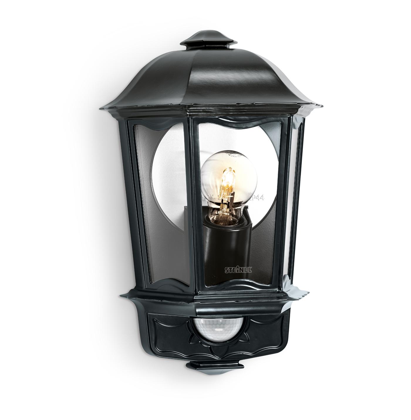 steinel sensorleuchte l 190 s schwarz 644413. Black Bedroom Furniture Sets. Home Design Ideas
